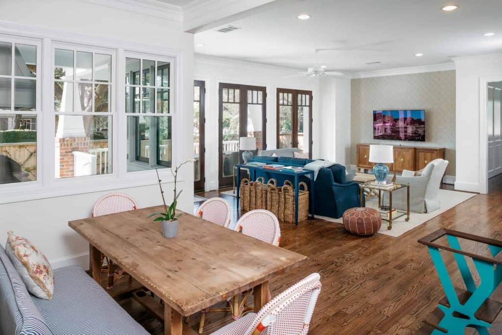 Craftsman Dining Room Living Room Open Floor Plan