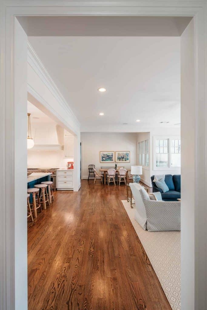 Craftsman Wood Floor Open Floor Plan