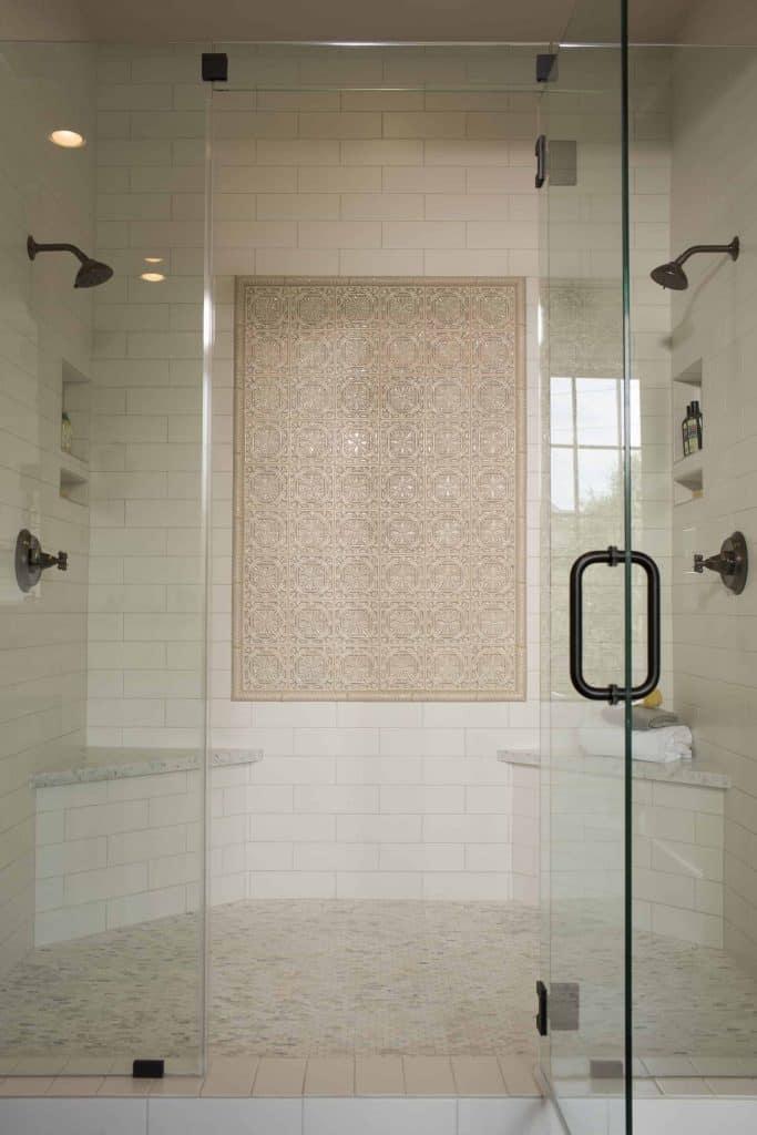 Charleston Master Bathroom Walkin Glass Shower